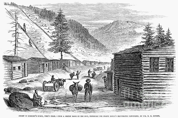 Mining Camp, 1860 Print by Granger