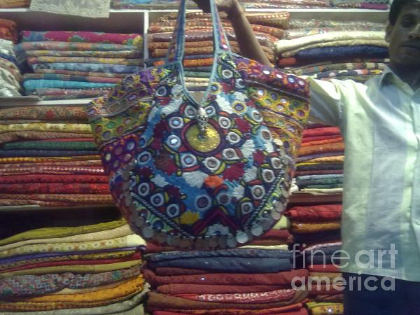 Mirror Work Bag Tapestry - Textile
