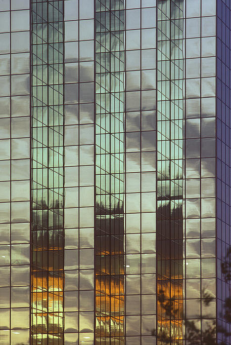 Mirrored Building Print by Mark Greenberg
