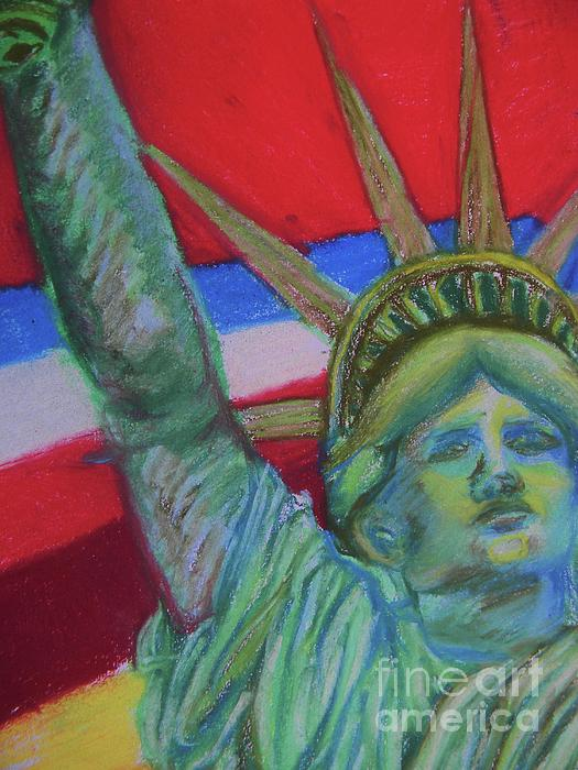 Miss Liberty Print by Emily Michaud