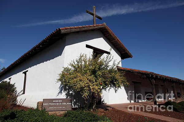 Mission Francisco Solano - Downtown Sonoma California - 5d19298 Print by Wingsdomain Art and Photography