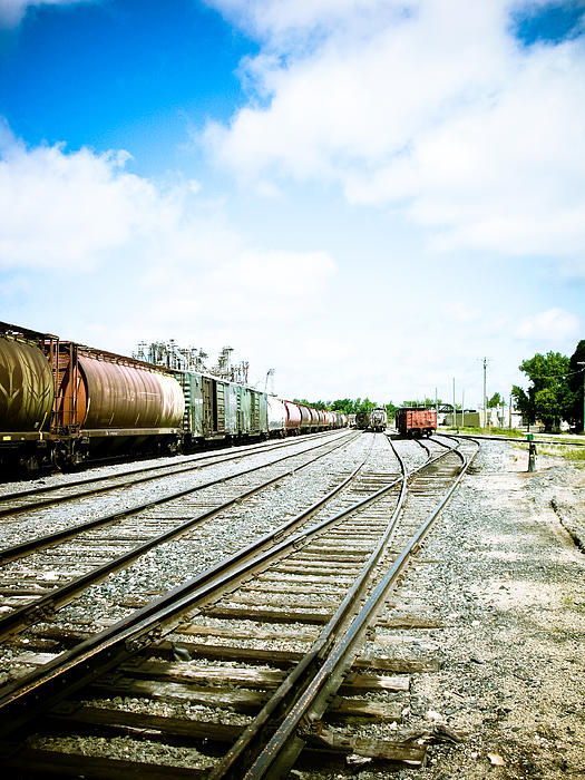 Mission Street Train Yard Print by Michael Knight