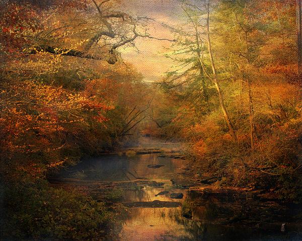 Misty Autumn Morning Print by Jai Johnson