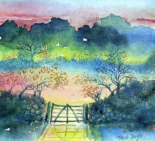Trudi Doyle - Misty Autumn Sunset