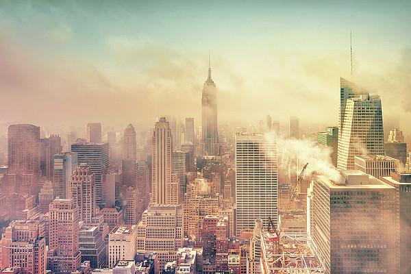 Misty Midtown Manhattan Print by Matthias Haker Photography