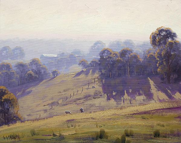 Misty Morning Cottles Bridge Print by Graham Gercken