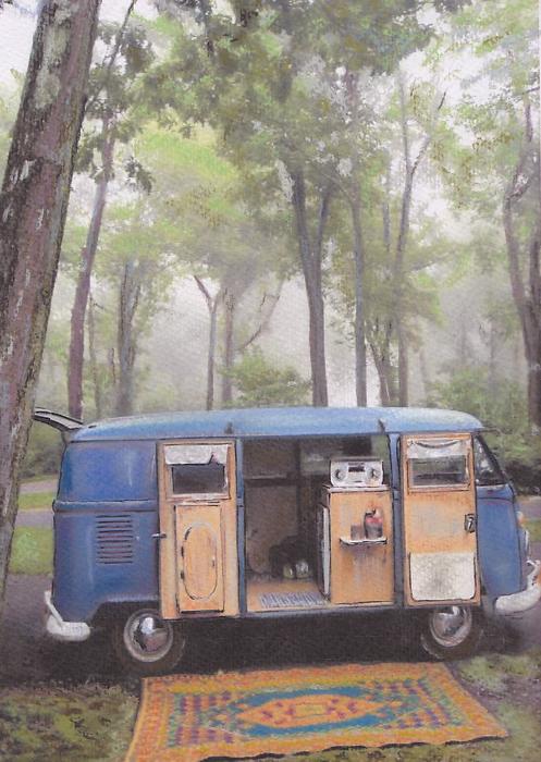 misty Morning Print by Sharon Poulton