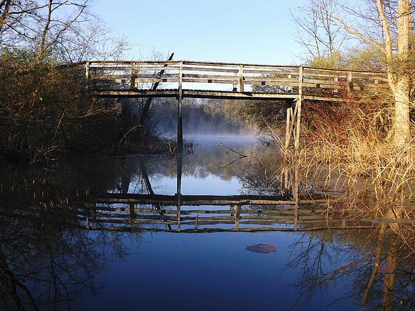 Gerald Strine - Misty river bridge