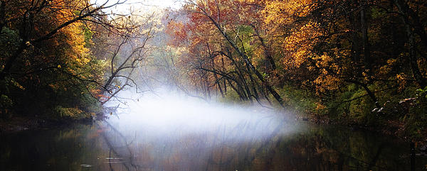 Misty Wissahickon Creek Print by Bill Cannon