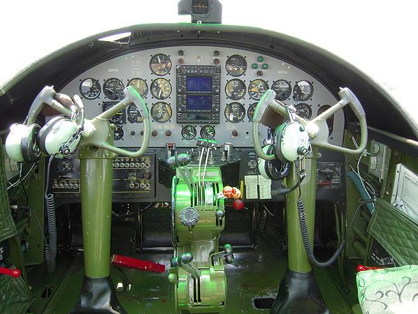 Mitchell B-25 Bomber Cockpit  B25 Cockpit