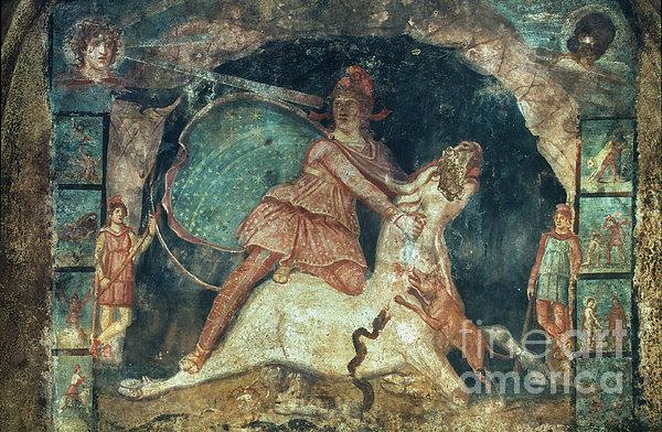 Mithras Killing The Bull Print by Granger