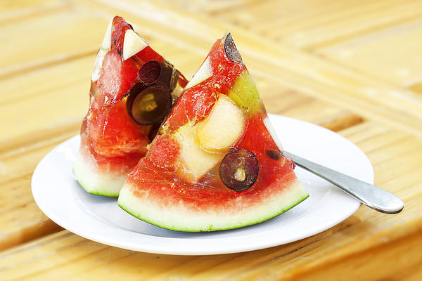 Mixed Fruit Watermelon Print by Anek Suwannaphoom