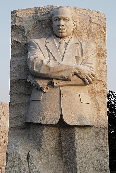 Mlk Memorial In Washington Dc Print by Brendan Reals