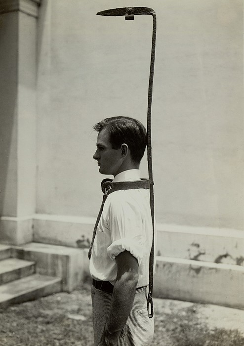 Model Wears A Slave Bell Rack, A Used Print by Everett
