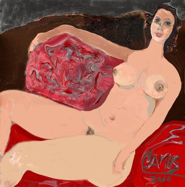 Modelo Valentina  Print by Carlos Camus