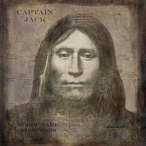 Modoc Indian Captain Jack Print by Cindy Wright