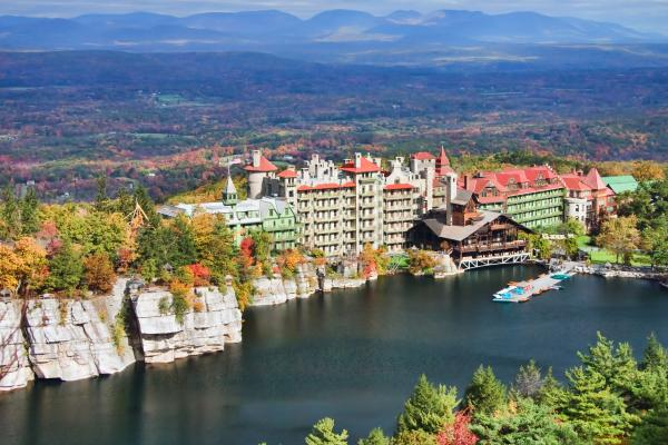 Mohonk Mountain House Print by June Marie Sobrito