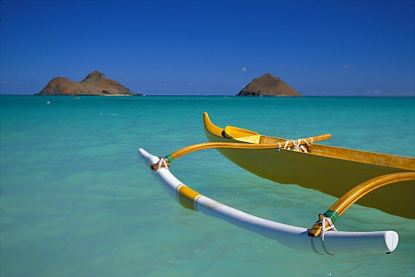 Mokulua Islands, Outrigger Print by Dana Edmunds - Printscapes
