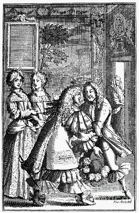 Moliere: Pr�cieuses, 1682 Print by Granger
