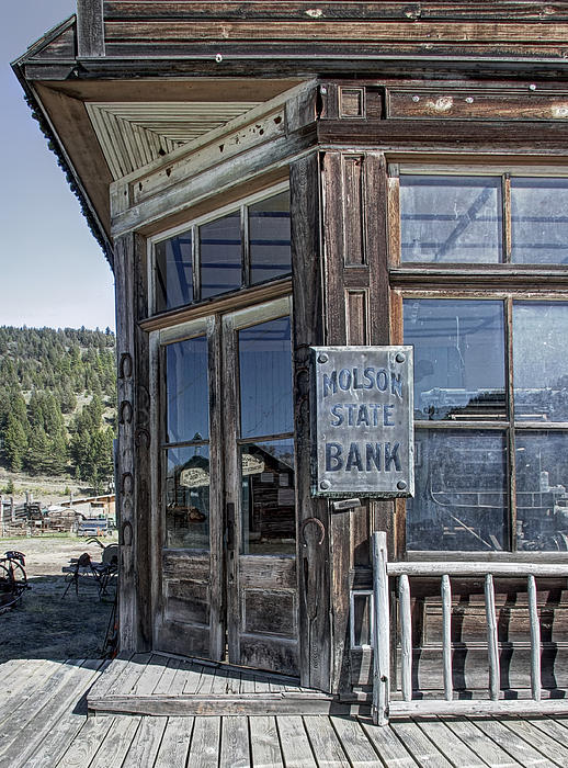 Molson Washington Ghost Town Bank Print by Daniel Hagerman