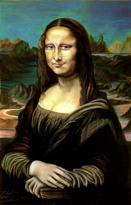 Mona Lisa My Version Pastel