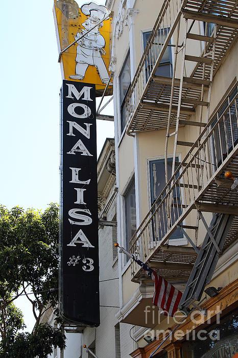 Mona Lisa Restaurant In North Beach San Francisco Print by Wingsdomain Art and Photography