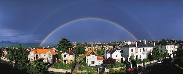 Monkstown, Co Dublin, Ireland Rainbow Print by The Irish Image Collection