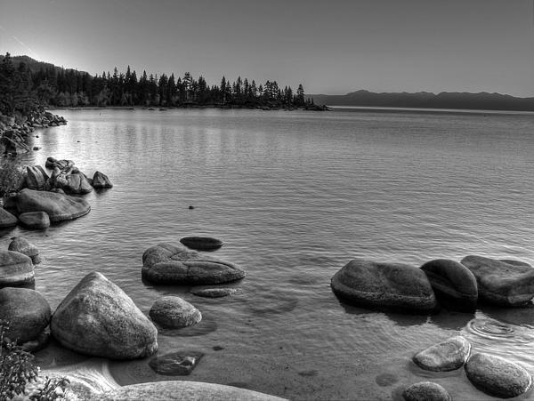 Monochrome Lake Tahoe Sunset Print by Scott McGuire