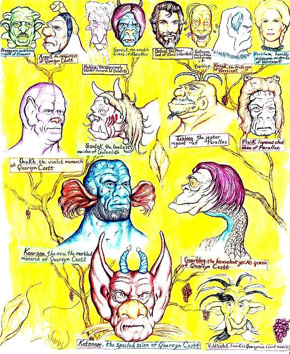 Monster Genealogy Print by Jamie Jonas