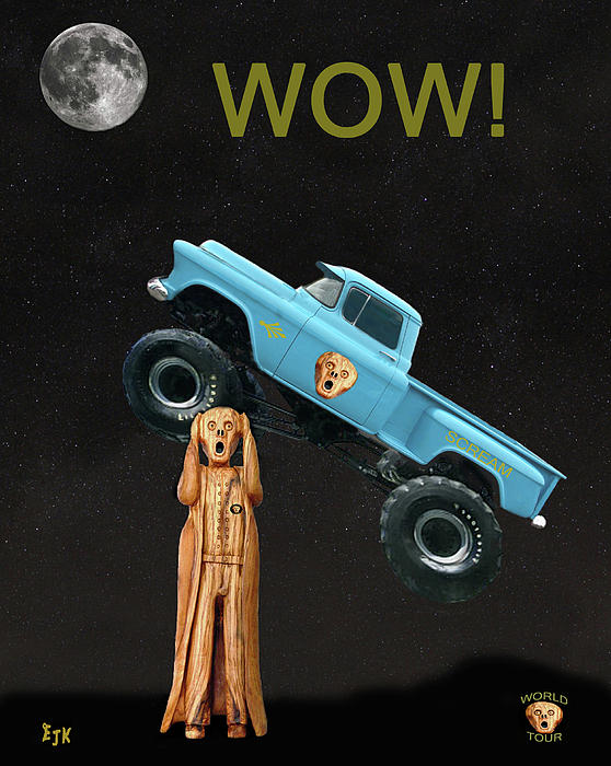 Monster Truck The Scream World Tour Wow Print by Eric Kempson