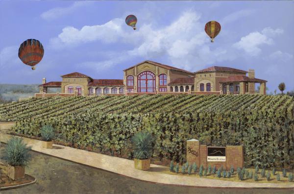 Monte De Oro And The Air Balloons Print by Guido Borelli