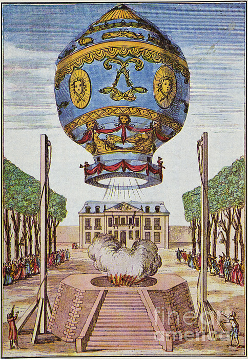 Montgolfier Hot Air Balloon Print by Science Source