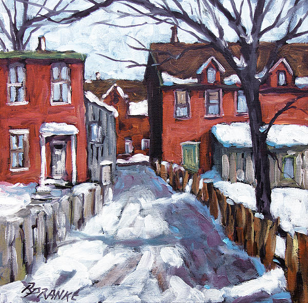 Montreal Scene 02 By Prankearts Print by Richard T Pranke