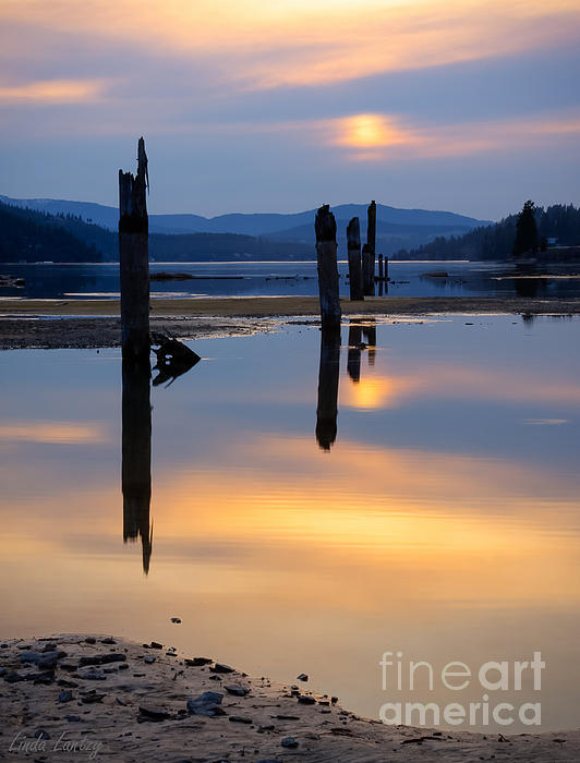Mood On The Bay Print by Idaho Scenic Images Linda Lantzy