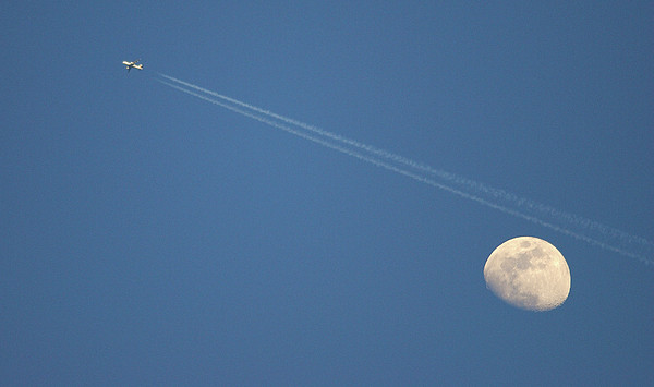 Moon In Sky Print by Vittorio Ricci - Italy