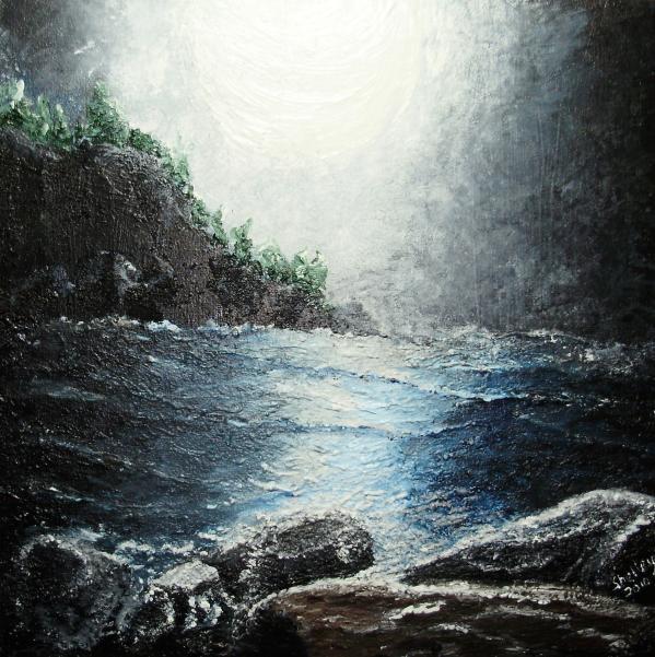 Shelley Bain - Moon light on the ocean