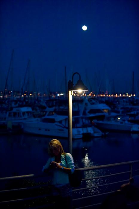 Moon Light Texting Photograph  - Moon Light Texting Fine Art Print