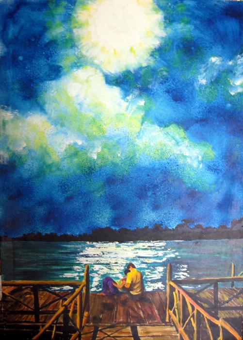 Sarah Hornsby - Moon over Laguna de Perlas