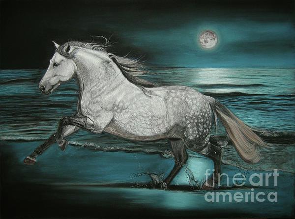 Moonlight Dancer Print by Sabine Lackner