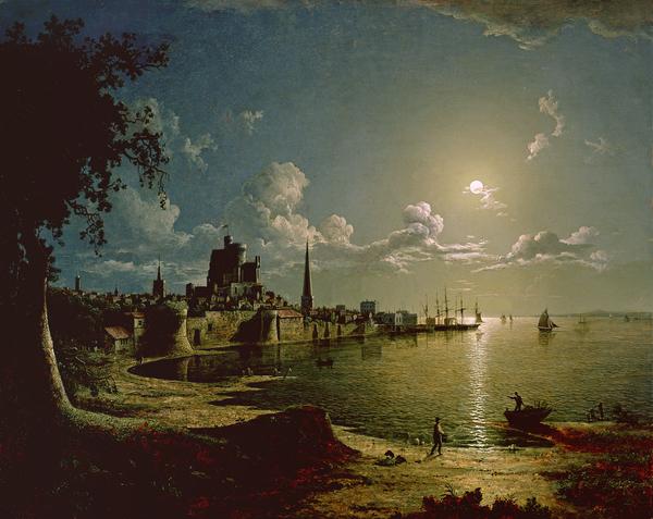 Moonlight Scene Print by Sebastian Pether