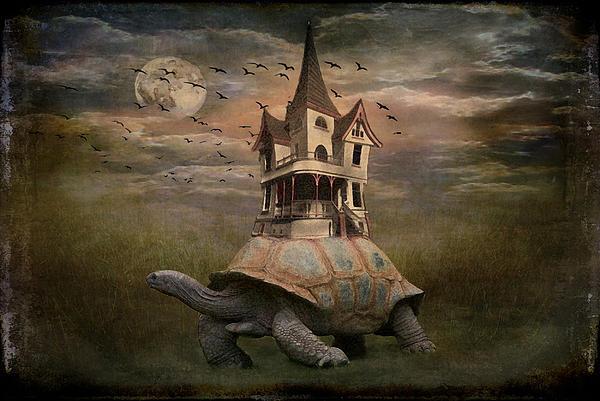 Moonlight Traveler Print by Marie  Gale