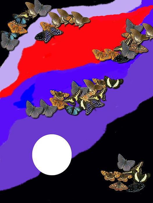 Moonlight Print by Val Oconnor