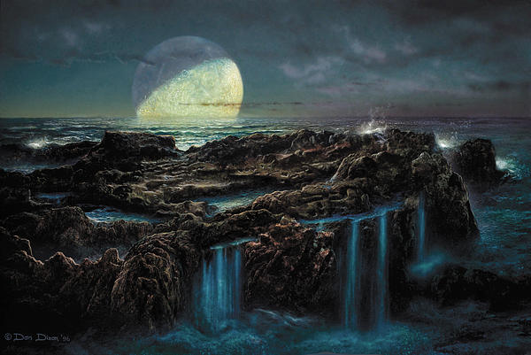Moonrise 4 Billion BCE Painting