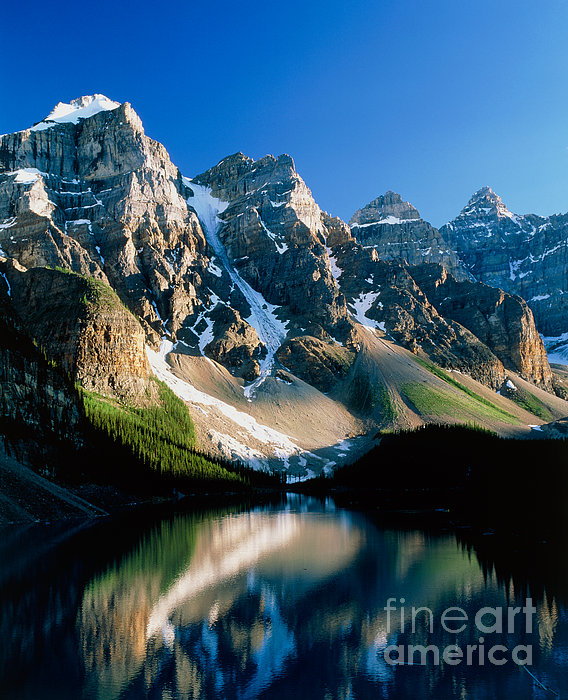 Moraine Lake Print by David Nunuk