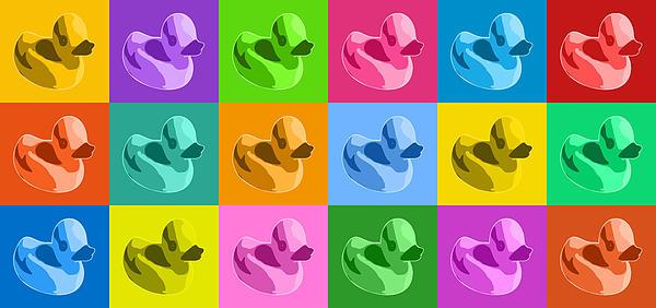 More Rubber Ducks Print by Michael Tompsett