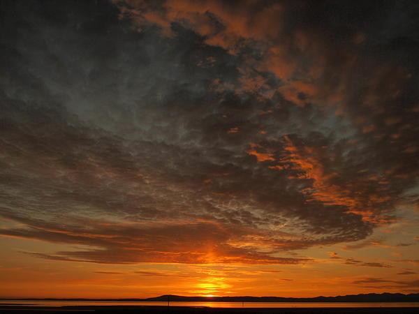 Morecambe Sunset Print by Christopher Mercer