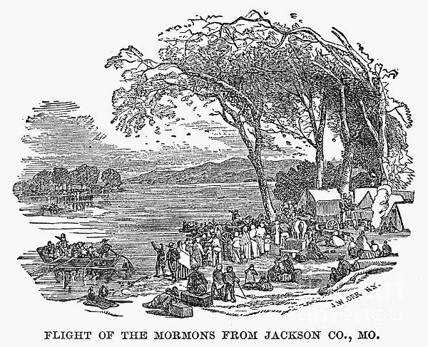 Mormon Flight, 1833 Print by Granger
