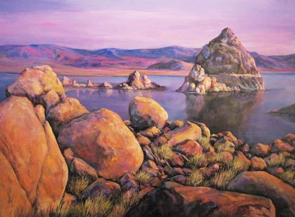 Donna Tucker - Morning Colors at Lake Pyramid