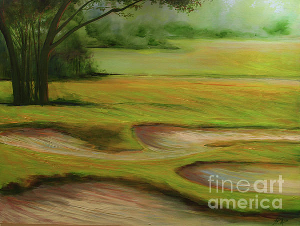 Morning Fairway Painting  - Morning Fairway Fine Art Print
