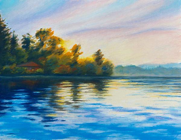 Morning Lake Print by Anna Abramska